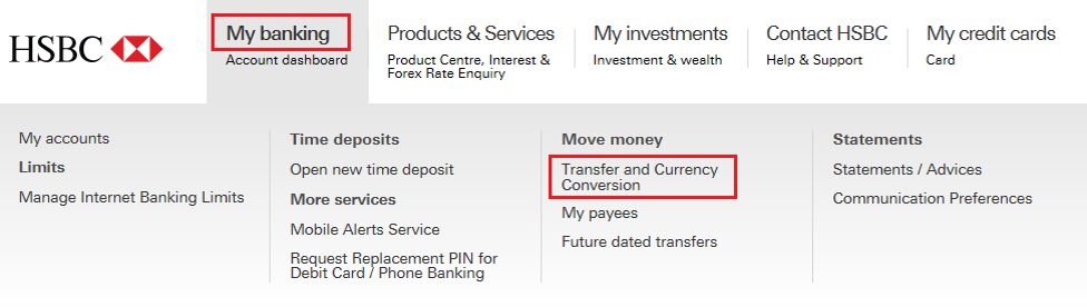 My Banking Transfer And Currency Conversion